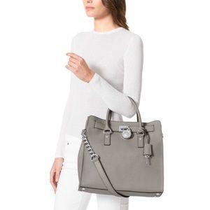 Michael Kors Bags - Michael Kors Hamilton Grey Hamilton Handbag